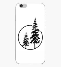 Two Simple Trees in a Circle iPhone Case
