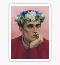 Flower crown Adam Sticker