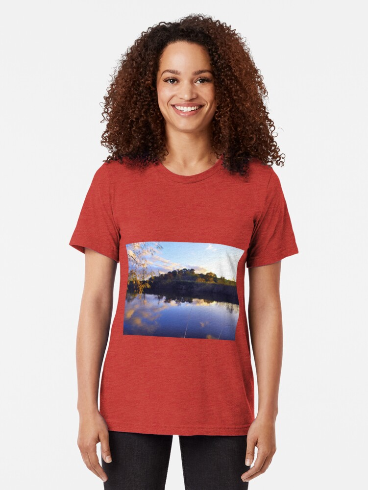 Alternate view of A place to fish Tri-blend T-Shirt