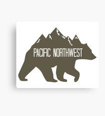 PNW Mountain Bear Canvas Print