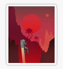 Blood Red Mars Sticker