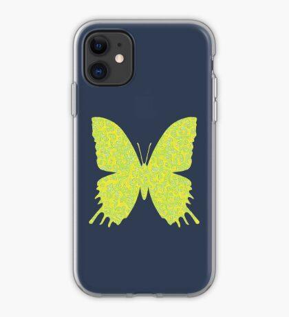#DeepDream Lemon Lime color Butterfly iPhone Case