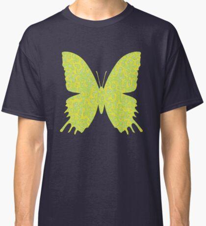 #DeepDream Lemon Lime color Butterfly Classic T-Shirt