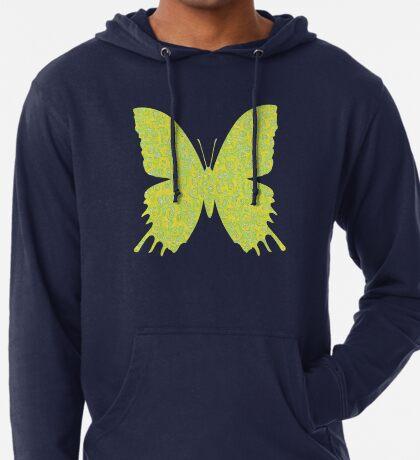 #DeepDream Lemon Lime color Butterfly Lightweight Hoodie