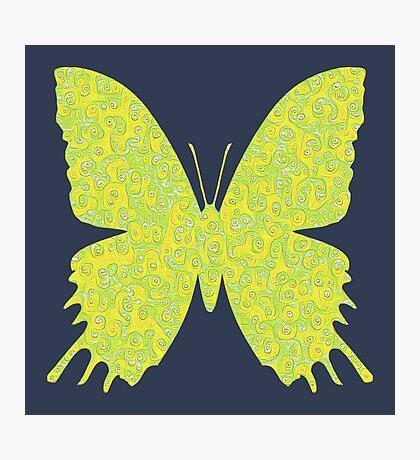 #DeepDream Lemon Lime color Butterfly Photographic Print