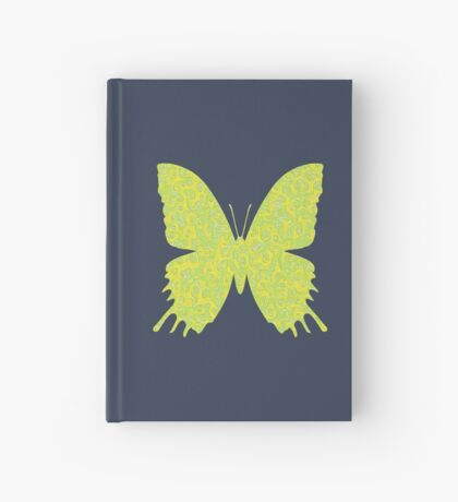 #DeepDream Lemon Lime color Butterfly Hardcover Journal