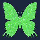 #DeepDream Lime Green color Butterfly by blackhalt