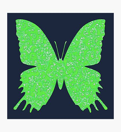 #DeepDream Lime Green color Butterfly Photographic Print