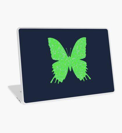 #DeepDream Lime Green color Butterfly Laptop Skin
