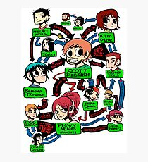 Scott pilgrim relationships Photographic Print