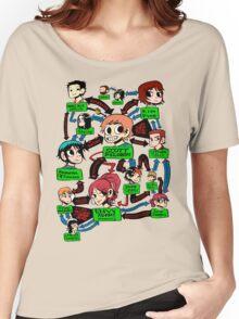 Scott pilgrim relationships Women's Relaxed Fit T-Shirt
