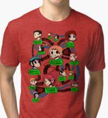 Scott pilgrim relationships Tri-blend T-Shirt