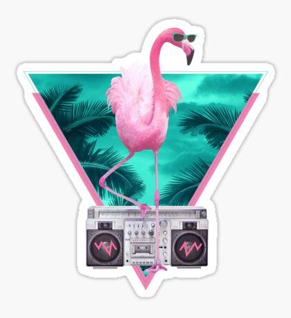 Miami flamingo Sticker
