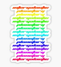 Another Dimension (neon) Sticker