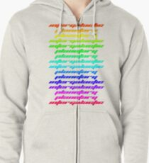 Another Dimension (neon) Zipped Hoodie