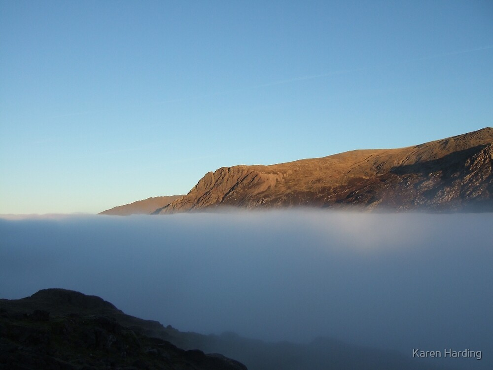 Into the Blue mountain and cloud by Karen Harding