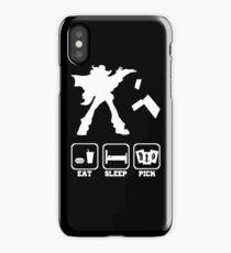 Eat sleep Pick 2 iPhone Case