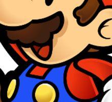 Mario jumping with fun Sticker