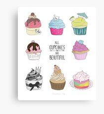 All Cupcakes are Beautiful I Metalldruck