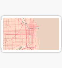 Chicago Map (Spring)  Sticker