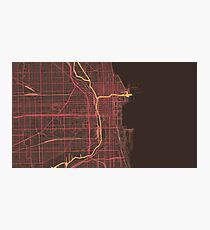 Chicago Map (Summer) Photographic Print