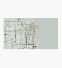 Chicago Map (Winter) Photographic Print