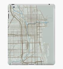 Chicago Map (Winter) iPad Case/Skin