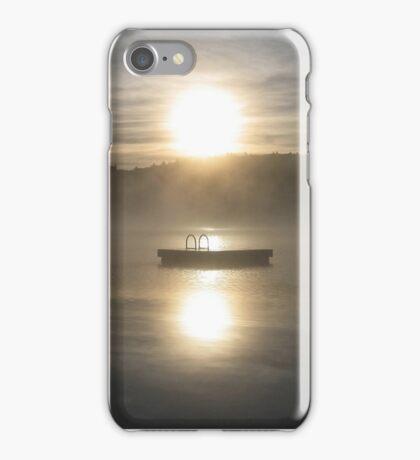 Waiting for fun - Dock on lake iPhone Case/Skin