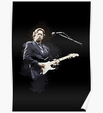 Digital painting of legend Eric Clapton Poster