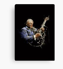 Digital painting of legend BB King Canvas Print