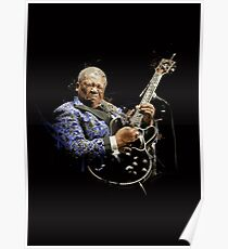 Digital painting of legend BB King Poster