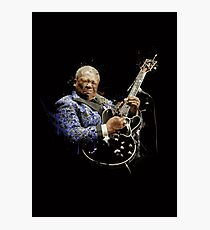 Digital painting of legend BB King Photographic Print