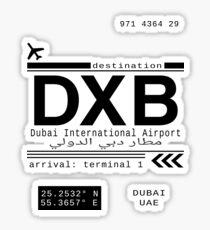 DXB Dubai International Airport Call Letters Sticker
