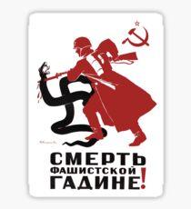 Death to Nazi Beast!  Sticker