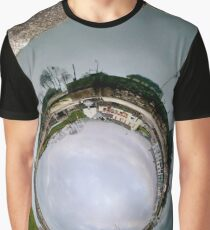 Hurry Head Harbour, Carnlough, County Antrim - Sky In Graphic T-Shirt