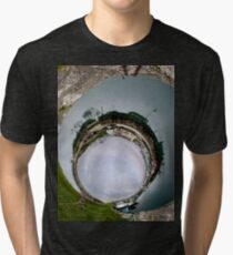 Hurry Head Harbour, Carnlough, County Antrim - Sky In Tri-blend T-Shirt