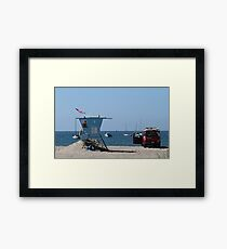 Baywatch moments in California Framed Print