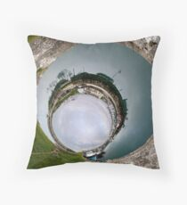 Hurry Head Harbour, Carnlough, County Antrim - Sky In Throw Pillow