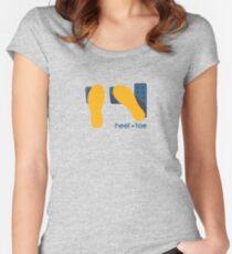 heel toe Women's Fitted Scoop T-Shirt
