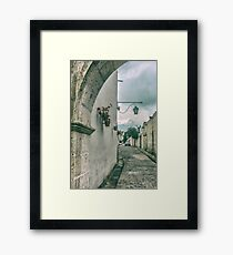 Colonial Street of Arequipa City Peru Framed Print