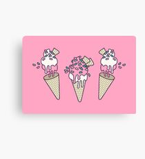 Pink Party Icecream Canvas Print