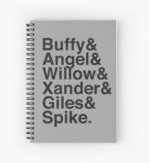 The Scooby Gang Vintage Black Spiral Notebook