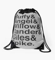 The Scooby Gang Vintage Black Drawstring Bag