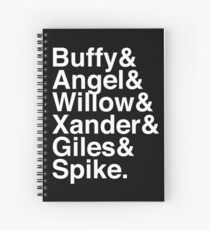 The Scooby Gang Classic White Spiral Notebook