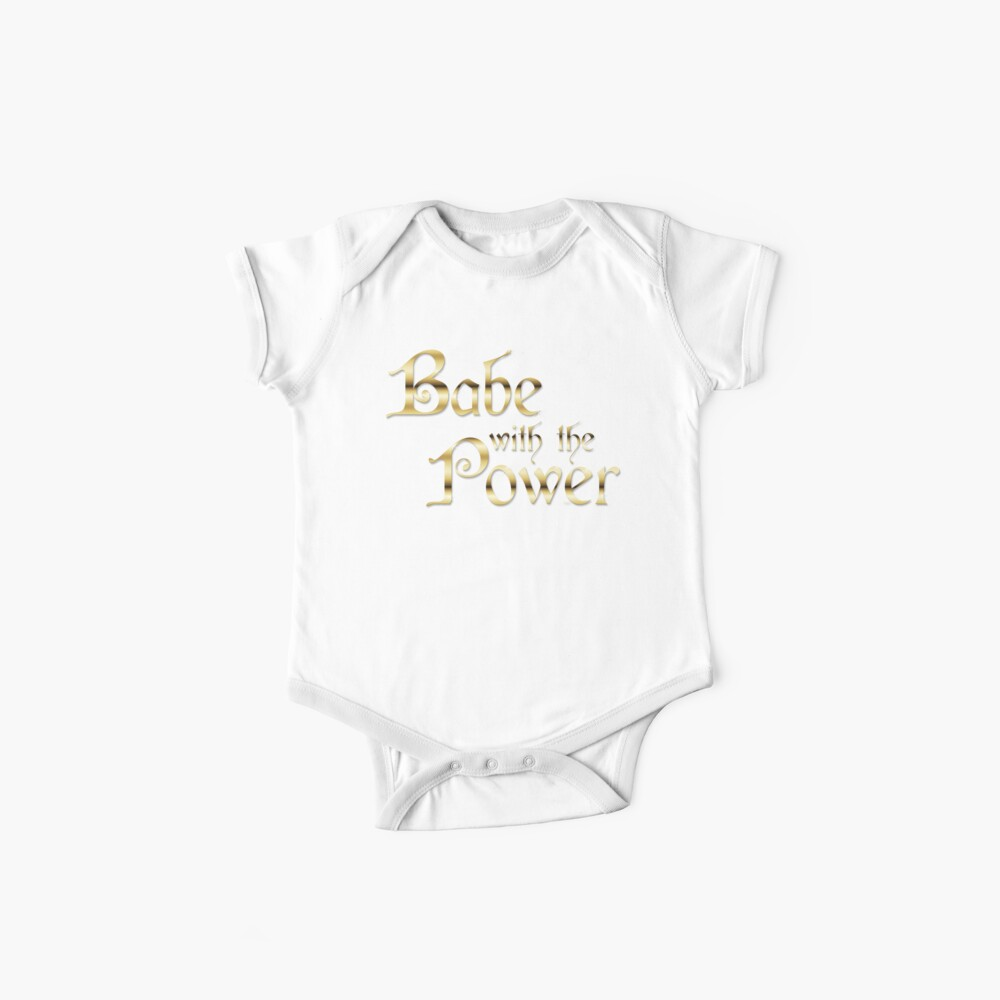 Labyrinth Babe With The Power (black bg) Baby One-Pieces