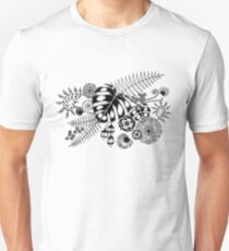 Tropical Leaves and Flowers T-Shirt