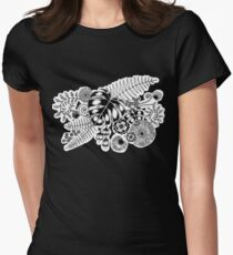 Tropical Leaves and Flowers Womens Fitted T-Shirt