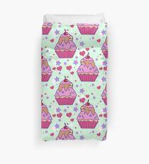 Cupcake Sloth Pattern Duvet Cover