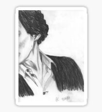 Partial view Sherlock (Benedict Cumberbatch) Sticker