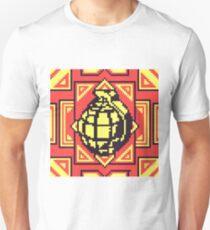 Grenade Pattern [Yellow/Red] Unisex T-Shirt